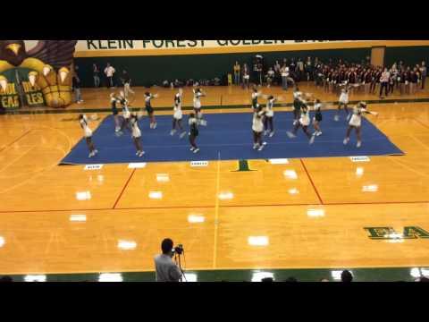 Klein Forest High School Cheerleaders-Spring Pep Rally 2015