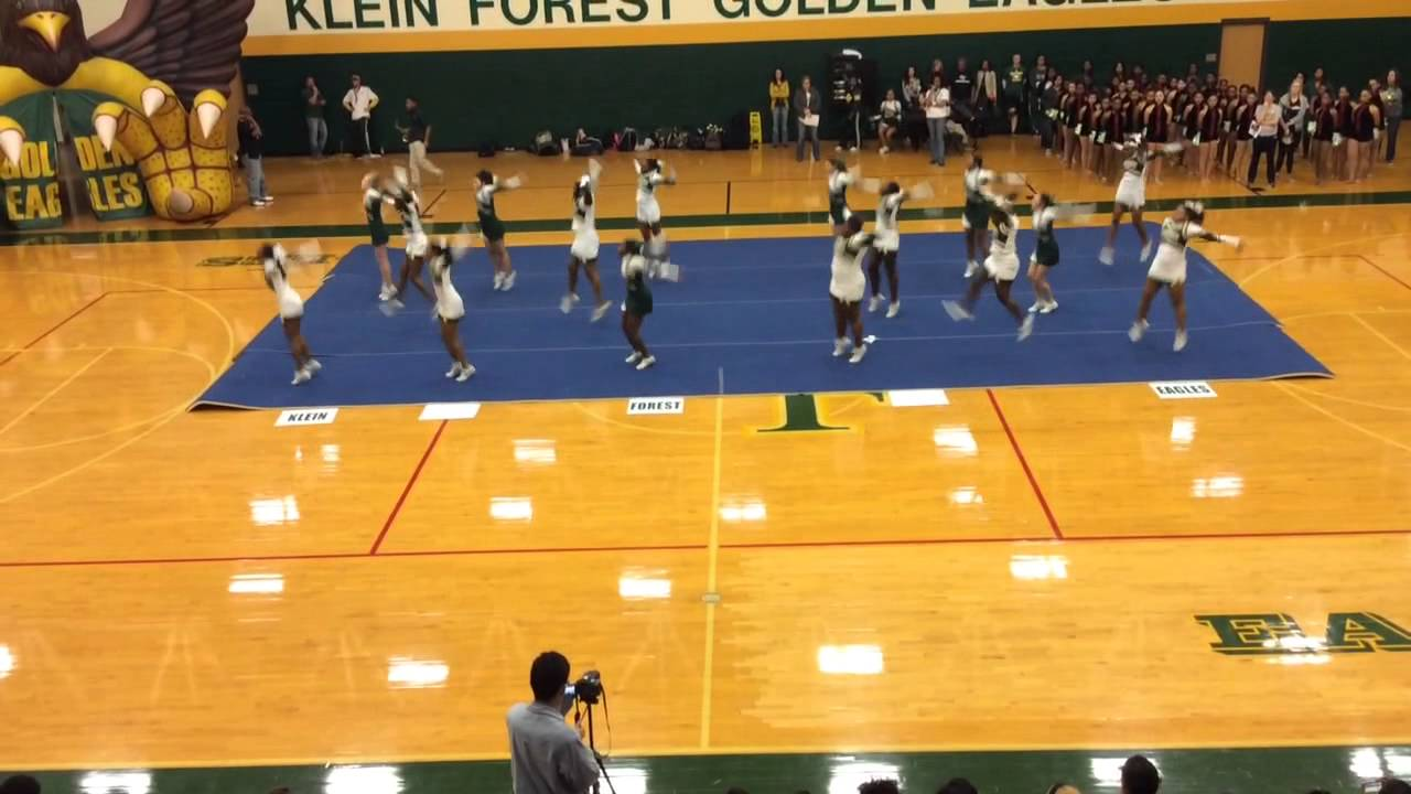 Klein Forest High School Cheerleaders-Spring Pep Rally 2015 - YouTube