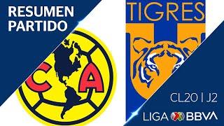 Resumen Y Gol   América Vs Tigres Uanl   Jornada 2 - Clausura 2020   Liga Bbva Mx