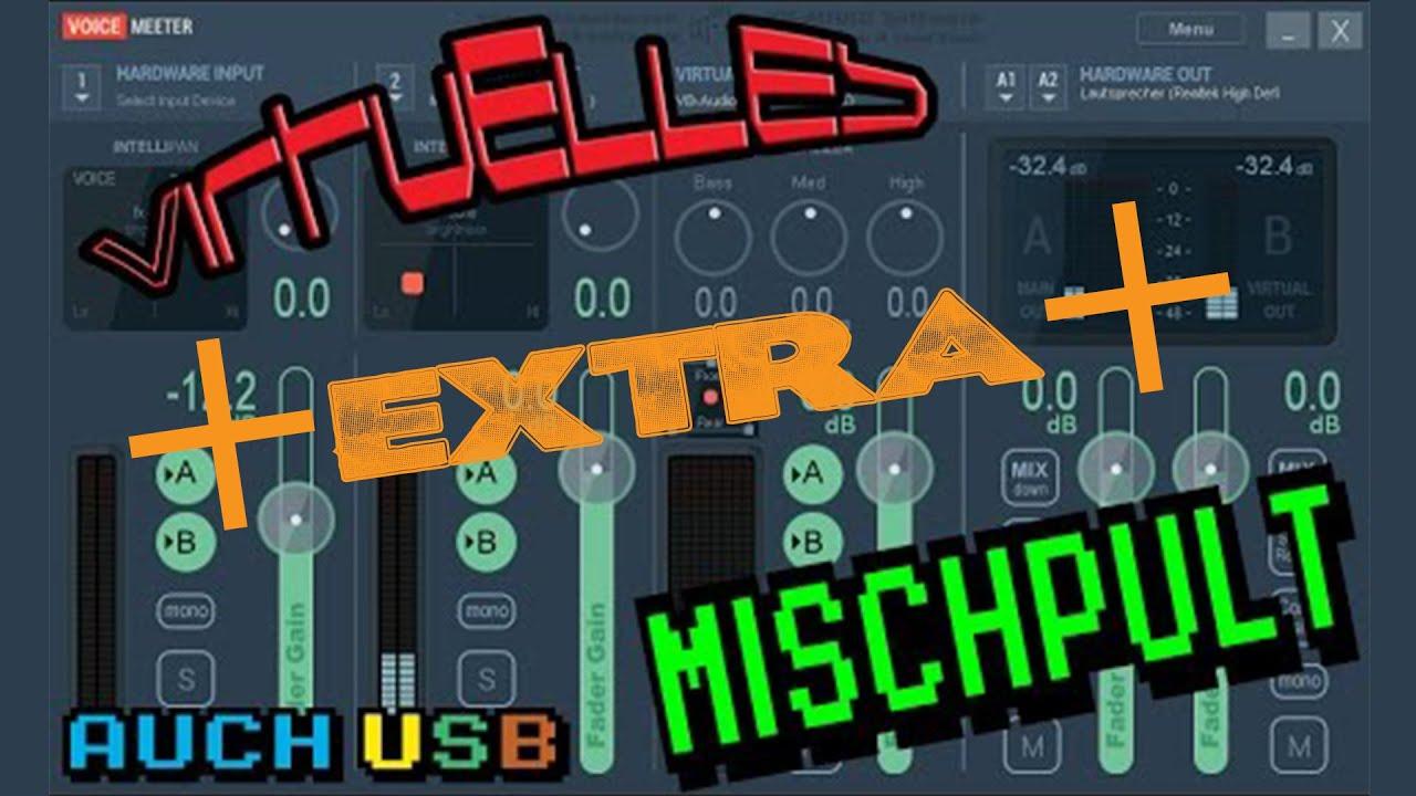 ++EXTRA++ Jedes Mikro 100Mal verbessern   Bass Boost   VIRTUELLES MISCHPULT  VOICEMEETER BANANA