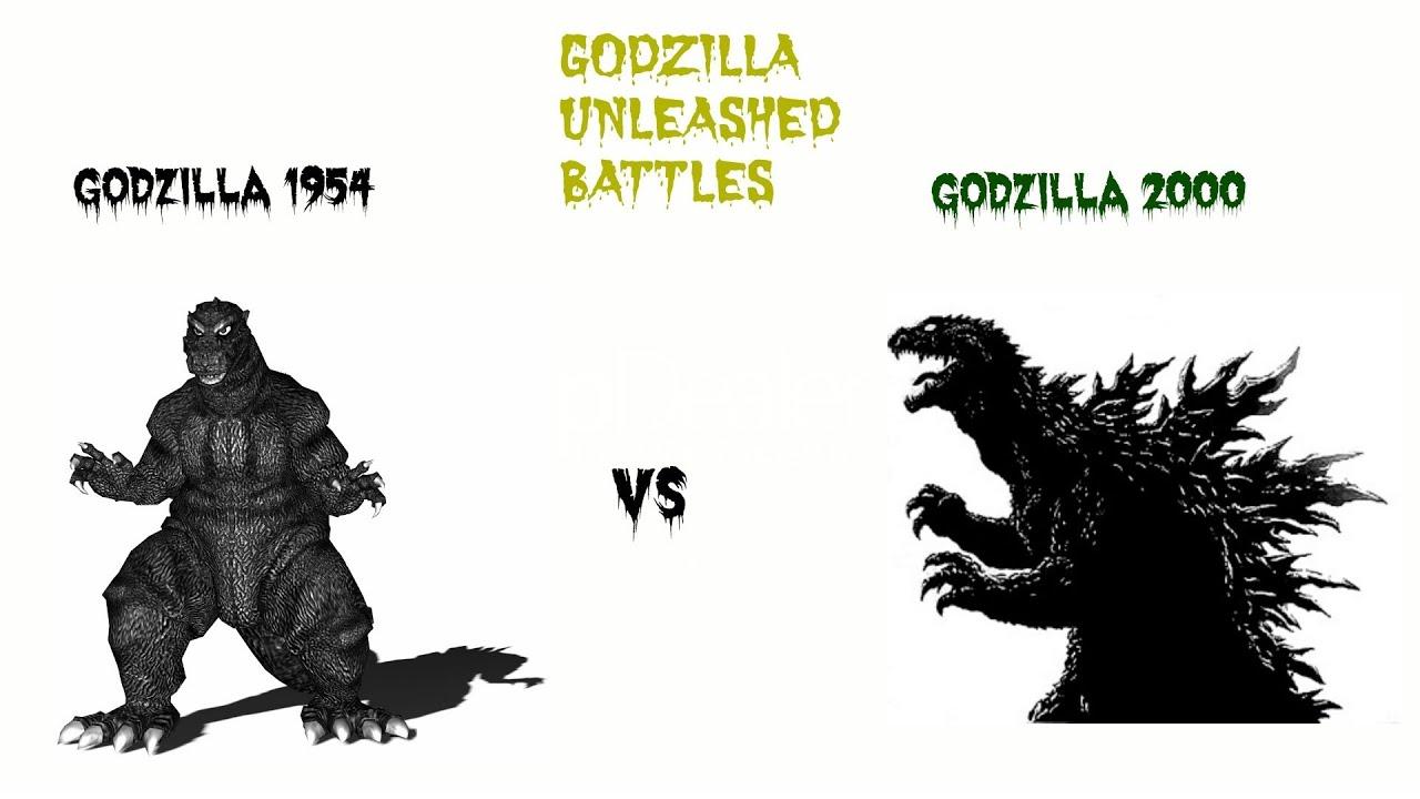Godzilla Unleashed: Godzilla 1954 vs Godzilla 2000 - YouTube