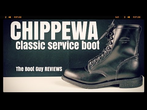 """CHIPPEWA MEN'S 8"""" BLACK WHIRLWIND SERVICE BOOTS Style:1901G20  [ The Boot Guy Reviews ]"""