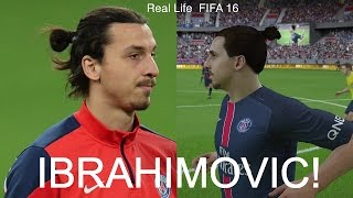 ZLATAN IBRAHIMOVIC IN FIFA 16 AND PES 2016! (Face Review) #33