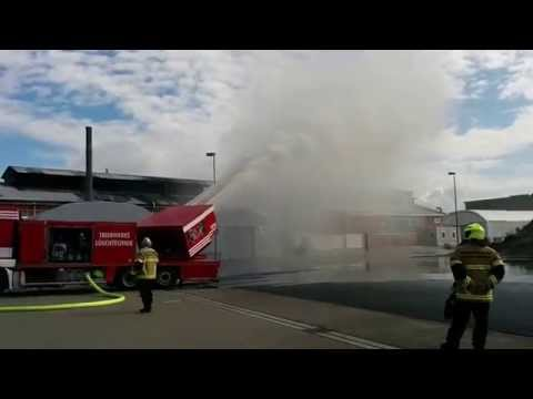 The Jet-powered Fire Extinguisher at Evonik Industries Rheinfelden (Germany)
