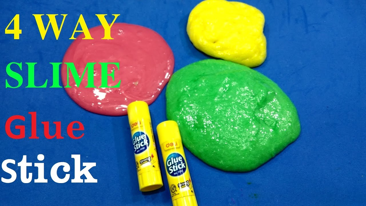 DIY Easy 4 ways to make slime with glue stick fluffy ! Top ...