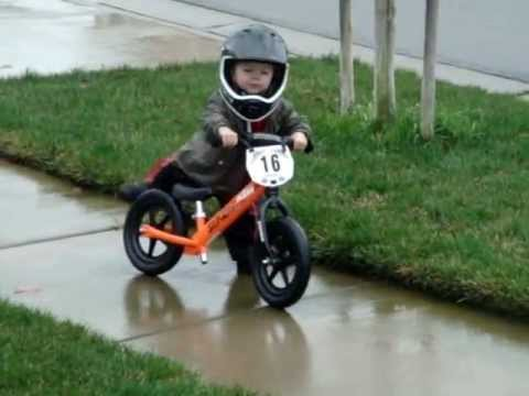 2 Year Old Strider Bike Rider Future Motocross Star Youtube