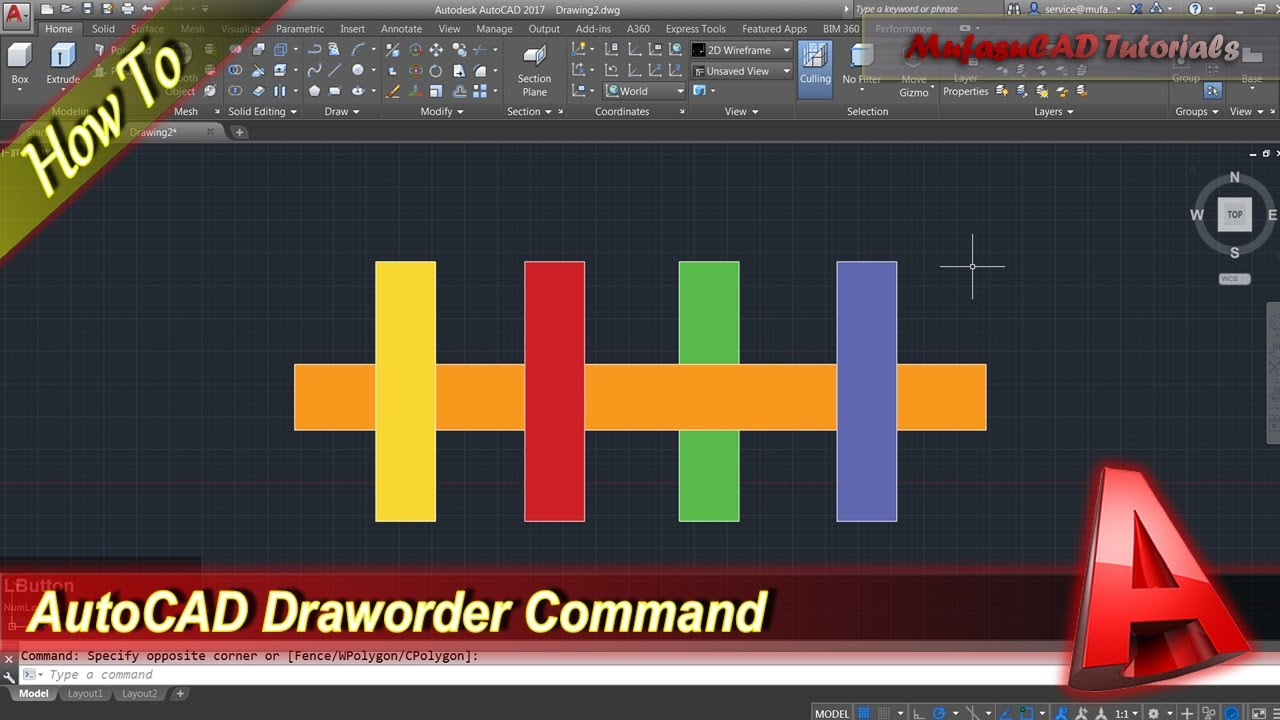 Fonctions Autocad Home Design | Autocad Tutorial How To Use Draworder Command Youtube