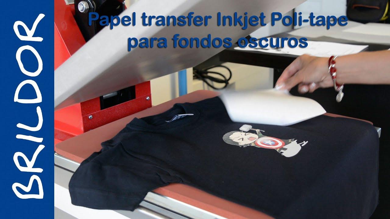 C mo aplicar papel transfer inkjet para fondos oscuros - Papel de transferencia textil ...