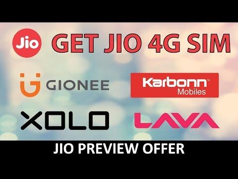 4G JIO SIM on Karbonn, Lava, Gionee & XOLO Phones : Official Reliance
