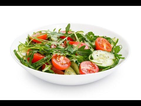 НОВОГОДНИЙ СТОЛ 2020! САЛАТ с РУККОЛОЙ, овощами и сыром фетакса - оригинальный рецепт👍