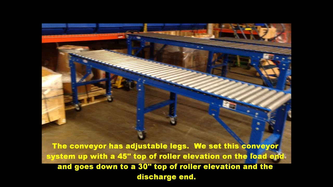 Heavy Duty Gravity Roller Conveyor With Casters Used At