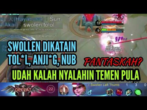 Swollen Left Thumb Marah2 Ke Temen Sampai Di Katain Balik - Mobile Legends