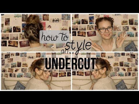 HOW TO STYLE AN UNDERCUT! Frisuren zum Verstecken und Hervorheben//How I style my Nape Undercut