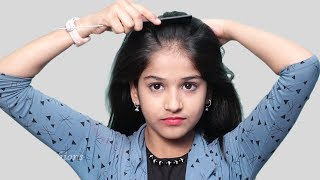 Beautiful Self Hairstyle for Girls || Self Hairstyles 2019 || Quick Hairstyles for Party/Wedding