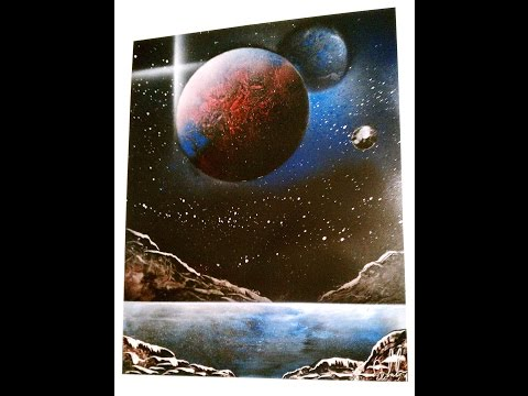 Spray Art Space-Painting in Under 10 Minutes – Spray Art by DCP