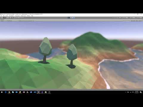 Terrain mesh generated in Unity - Depth of Field