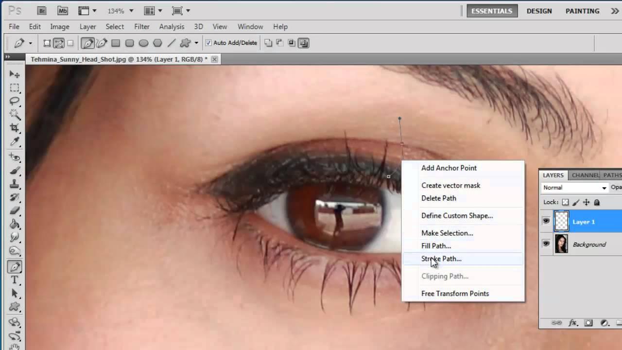 8a0032e6ac8 How to Photoshop Fake Eyelashes - YouTube