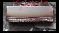 TIG Unión en T Posición Plana (Con Aporte) - Acero Inoxidable