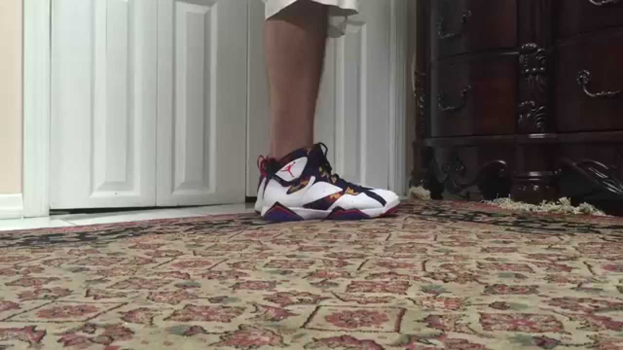 0fe343766c53 Air Jordan 7 VII Nothing But Net Sweater On Foot - YouTube