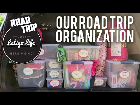 FAMILY ROAD TRIP PACKING TIPS FOR CLOTHES AND ORGANIZATION || Family Vlog