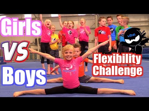 Girls vs Boys Gymnastics | Flexibility Challenge thumbnail