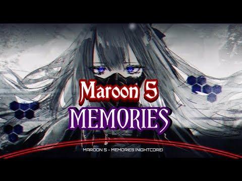NIGHTCORE MAROON 5 - MEMORIES Lyrics ( Cover Girl by J.Fla )