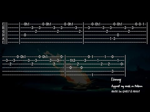 Celtic Music - Last Dance [Full Acoustic Guitar Tab by Ebunny] Fingerstyle How to Play