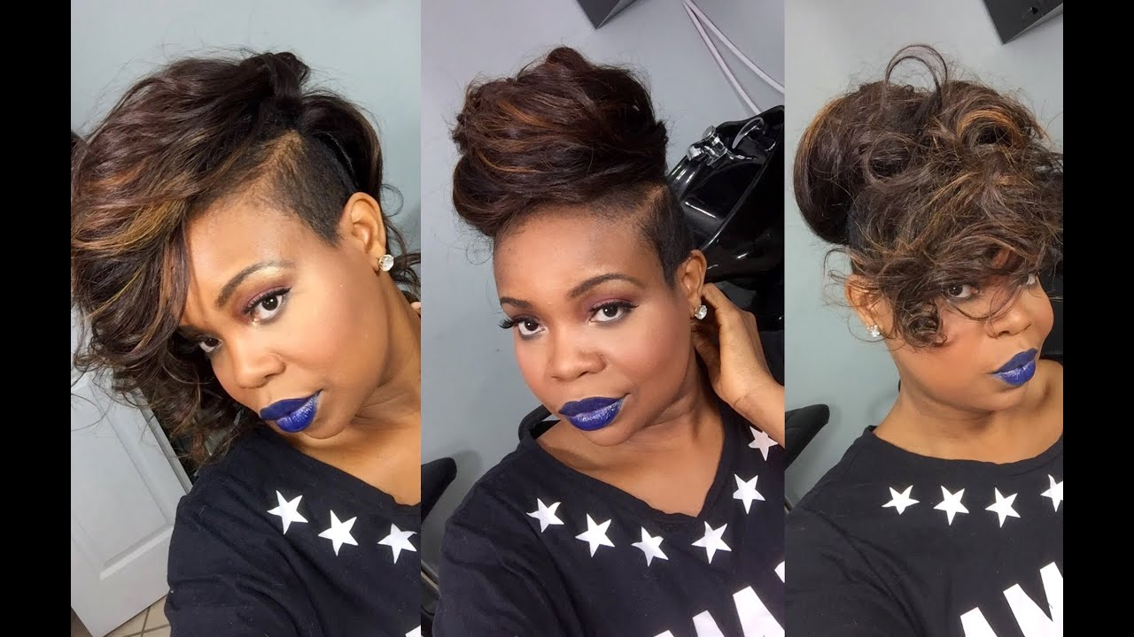 Partial Sew In Weave for short thin hair