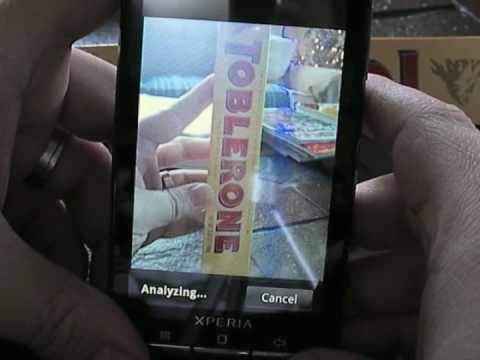 Xperia X10 - Google Goggles Demo