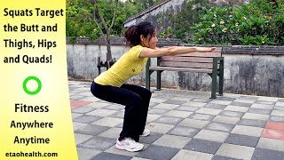 Perfect Hips, Thighs, Glutes, Butt, Flat Stomach! Lose WEight. King of bodyweight exercises Squats