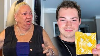 C0ND0M In Sandwich Prank On Grandmom