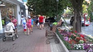 Конец июля. Улица Калараш в сторону моря. Лазаревское летом. Июль 2016