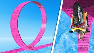 Attempting The World's BIGGEST MOTORBIKE LOOP! - GTA 5 Funny Moments