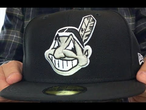 ea93c963 Indians 'CHIEF-WAHOO' Black-Grey-White Fitted Hat by New Era - YouTube