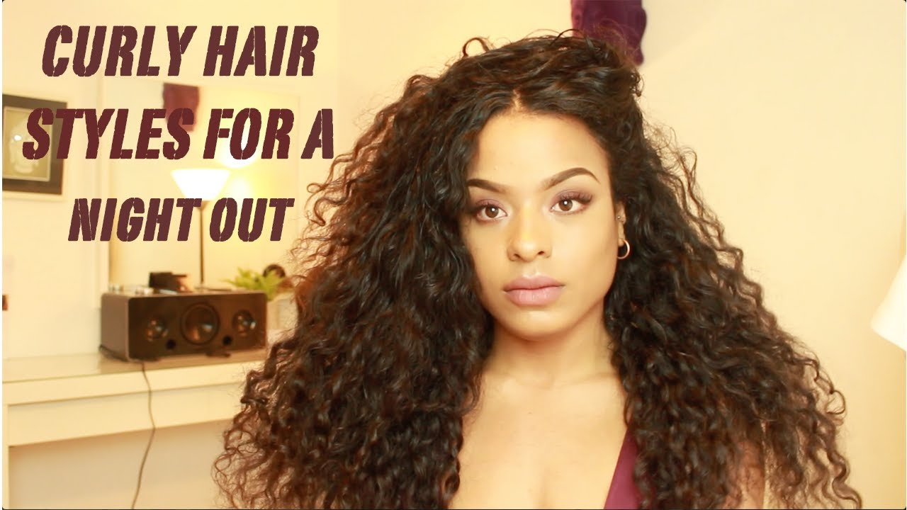 6 Curly Hair Styles For A Night Out - YouTube