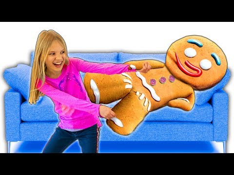 Amelia, Avelina And Akim Giant Magic Gingerbread Man Adventure!