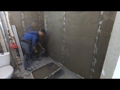 Штукатурка стен по маякам своими руками в ванной видео