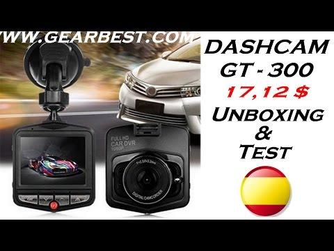 DASHCAM GT 300 Car Cam DVR - Unboxing Y Test De Esta Genial Cámara.