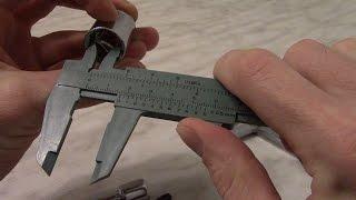 Измерение штангенциркулем. Как пользоваться штангенциркулем.