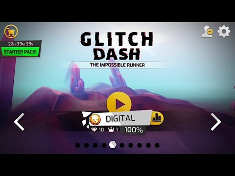 Glitch Dash: Level - DIGITAL (Perfect Run,100%,All Diamonds,Crowns) IOS Gameplay Walkthrough (HD)