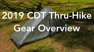 2019 CDT Thru-Hike Gear Overview