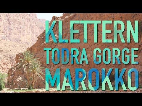 Klettern in der Todra Gorge, Marokko