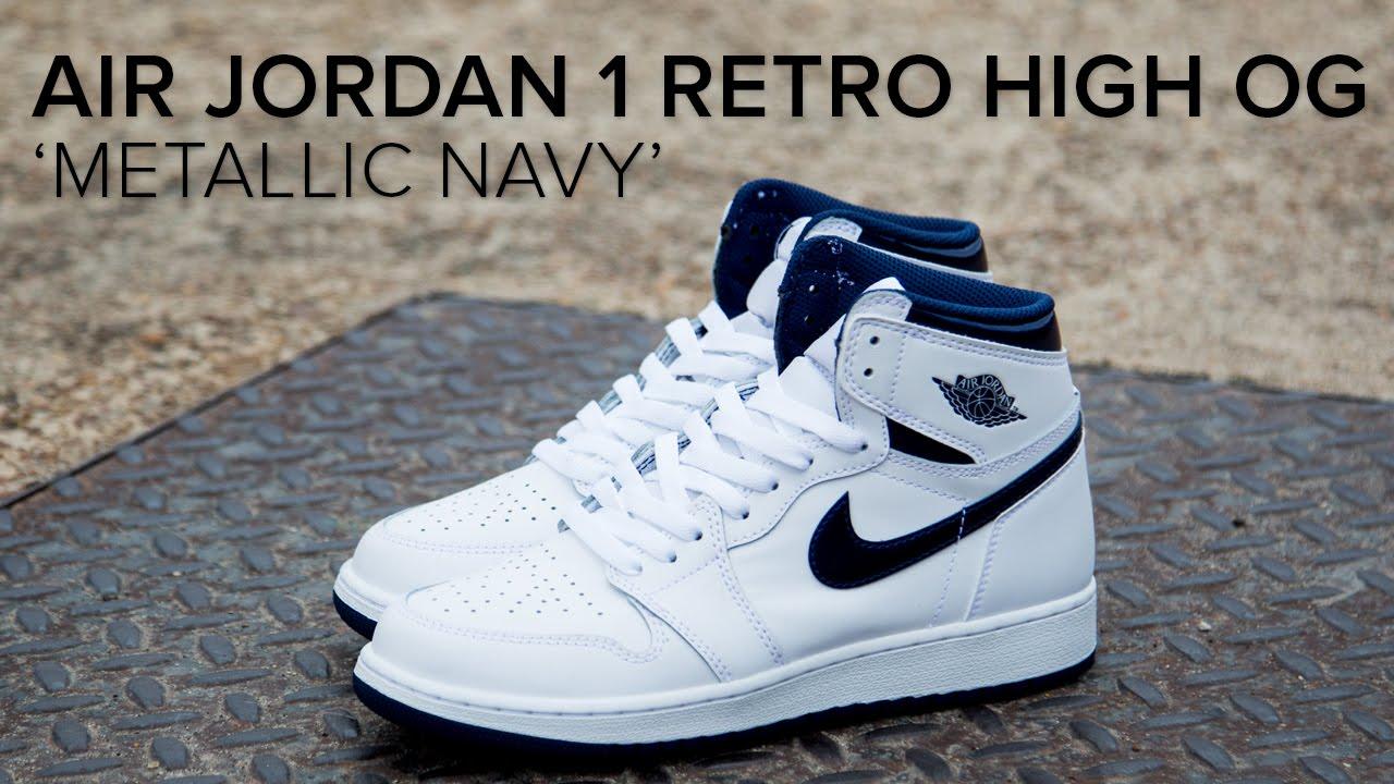 b831ad68d360a0 Air Jordan 1 Retro High OG  Metallic Navy  Quick Look - YouTube