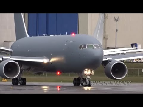 1st Boeing KC-46A Pegasus ReFueling Tanker High Speed Taxi Test & Unveiling @ KPAE Paine Field