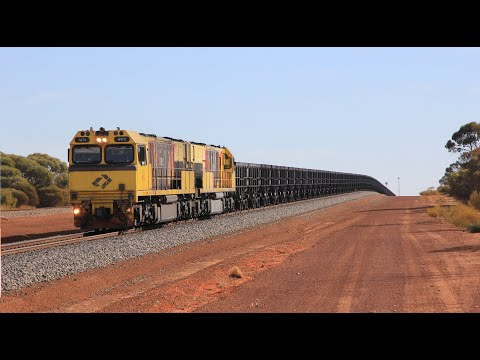 Distributed Power Ore Trains & P Class Locomotives: Geraldton Ore Trains