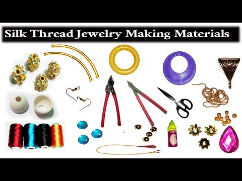 silk thread jewellery making kit making materials 2017 raw material for silk thread earrings