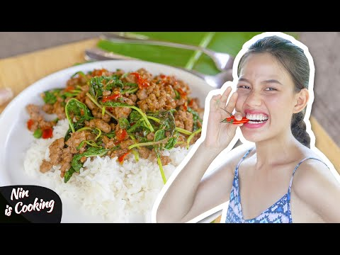 pad-kra-pao-moo:-classic-thai-stir-fry-basil-pork-recipe---nin-is-cooking
