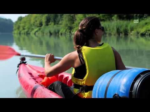Au fil du Rhône 8/13:  En canoë de Seyssel à Chanaz