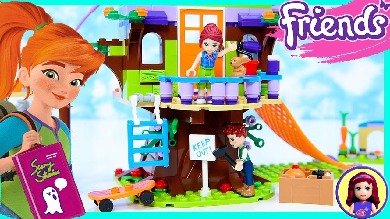 Lego Friends Mias Tree House Sleepover Silly Play Build Kids Toys