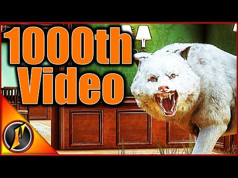My 1000th Video! Ft. An Albino Wolf!